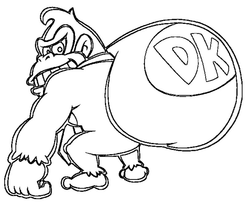 d k coloring pages - photo #32