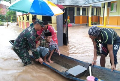 Pasca Tsunami Selat Sunda, Pagi Ini Dua Desa di Serang Banten Terendam Banjir