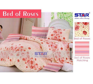 Sprei Dewasa Motif bed of Rose bahan cotton