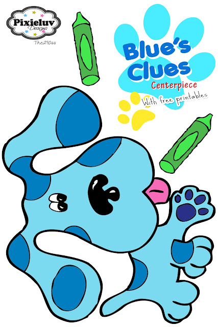 The290ss Blue S Clues Centerpiece Tutorial