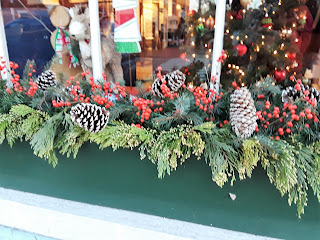 Lovely Holiday decorations at quaint shops in Portsmouth New Hampshire