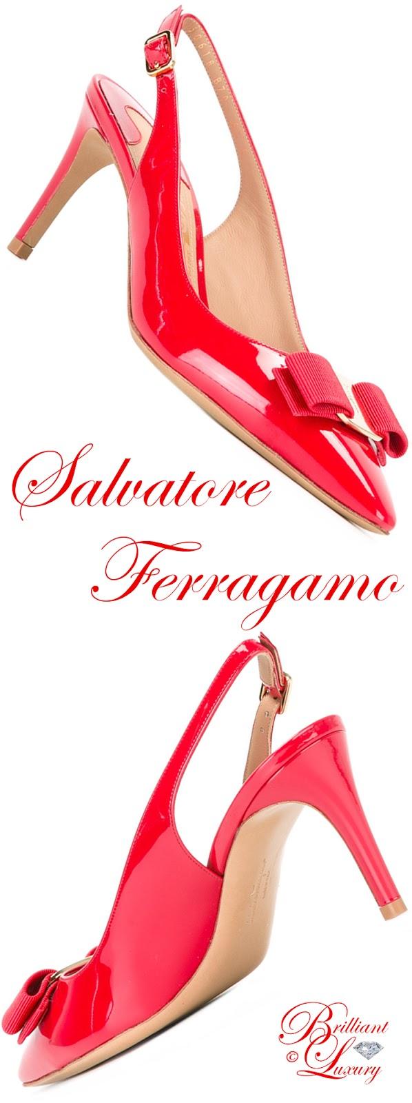 Brilliant Luxury ♦ Salvatore Ferragamo Slingback Sandals