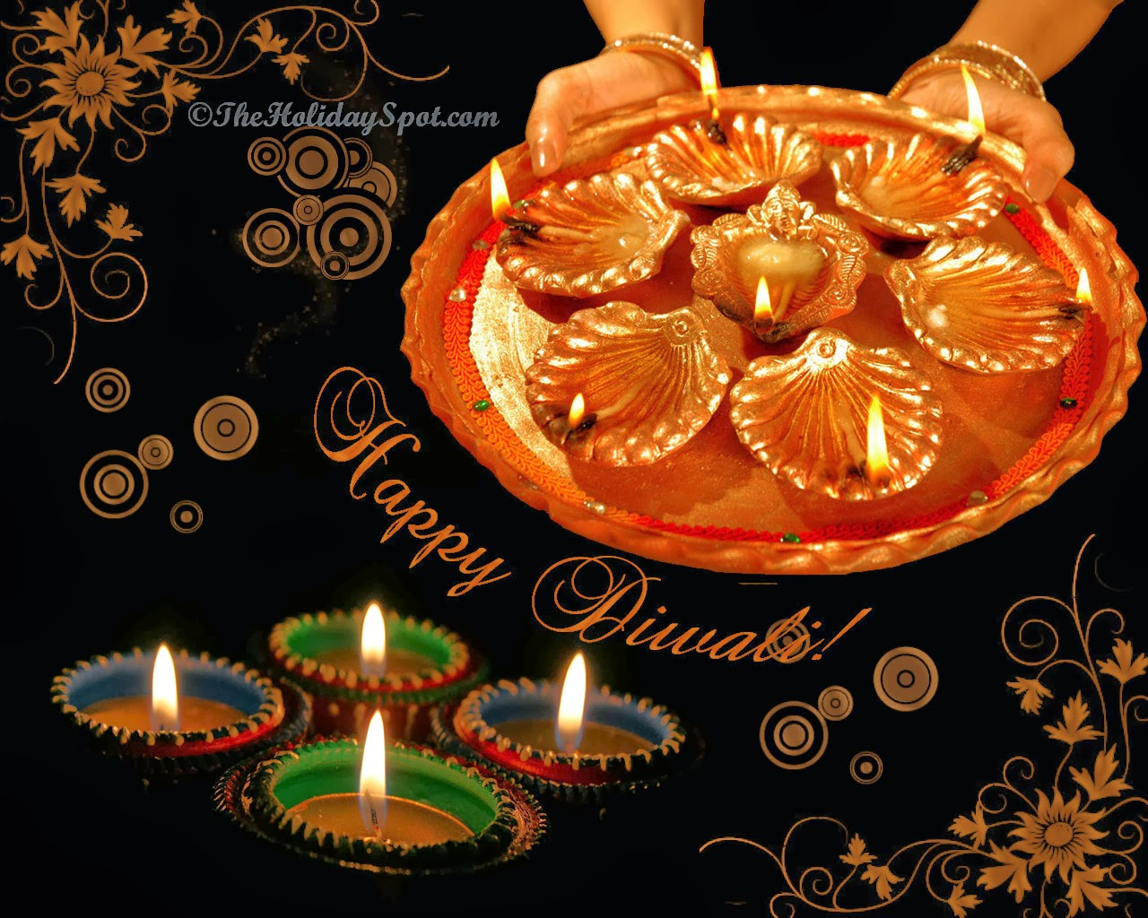 Diwali Diyas & Candles Wallpapers & Greeting Cards ...
