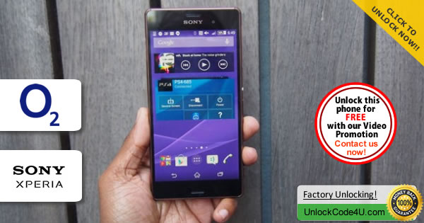 Factory Unlock Code Sony Xperia Z3 from O2