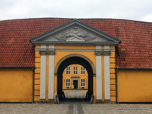 entrada palacio roskilde
