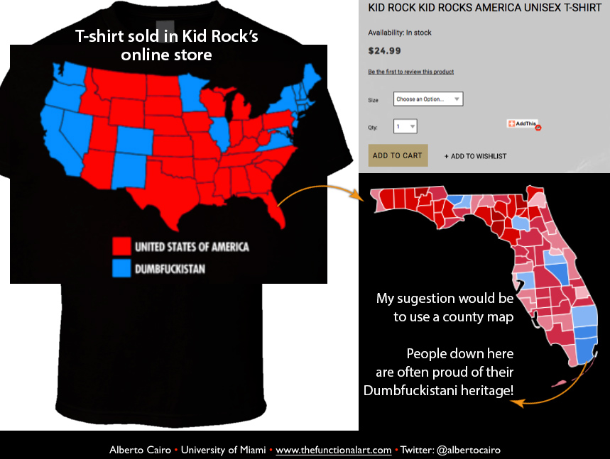 The Functional Art An Introduction To Information Graphics And - Tee shirt us map dumbfuckistan