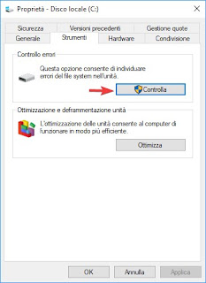 Controllo disco Windows