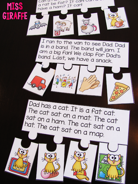 Short vowels reading fluency and comprehension puzzles and other fun phonics ideas
