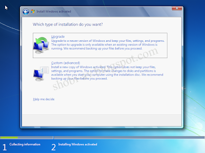 Upgrade dan Custom Install Windows 7