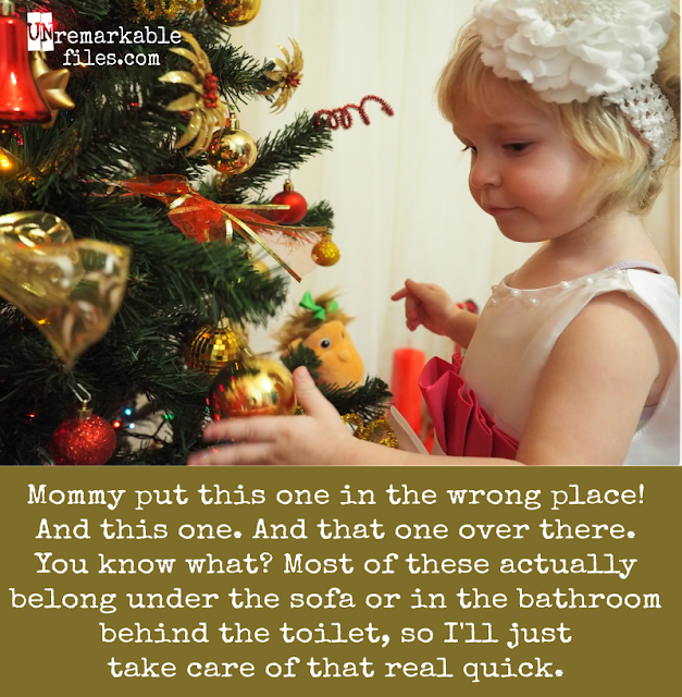 You expect the holidays to be magical and idyllic when you're a parent. Instead, they turn out more like this.  {posted @ Unremarkable Files}