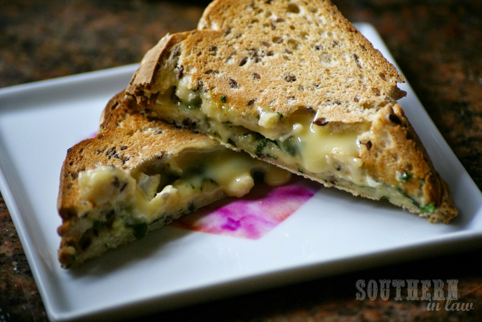 Cheesy Garlic Bread Toasted Sandwich with Camembert