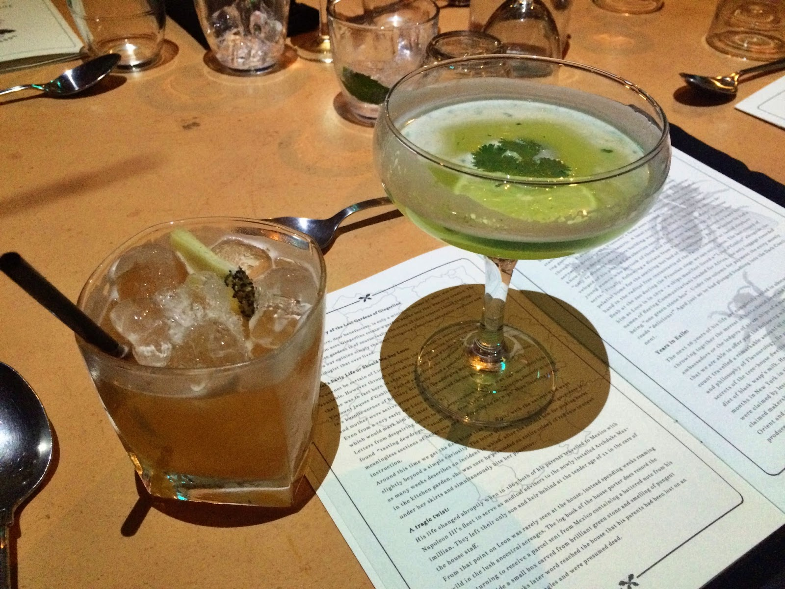 Cocktails in the Lost Gardens Of Gingerline