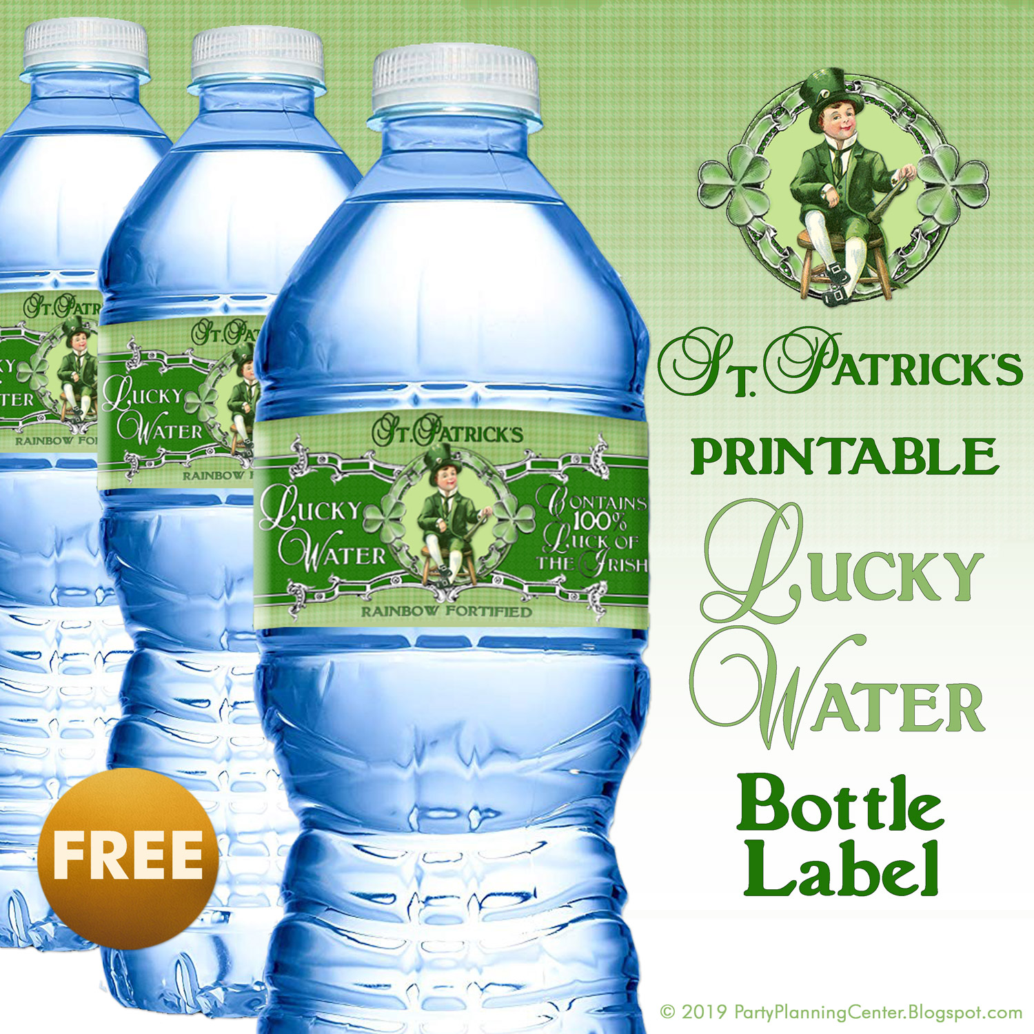 Click The Link Below To St Patrick S Day Free Printable Water Bottle Label Template