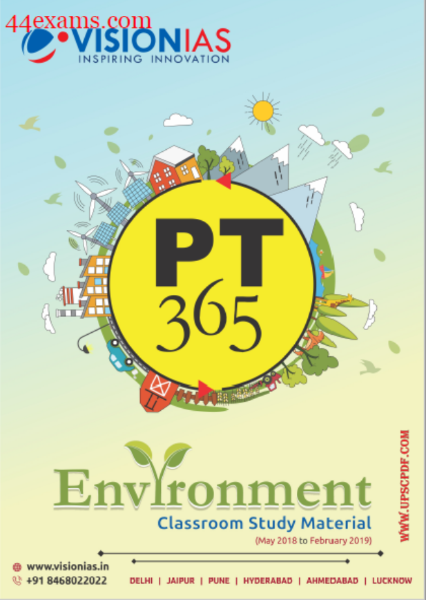 Environment Classroom Study Material By Vision IAS : For UPSC Exam PDF Book