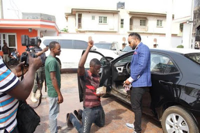 EMoney discovers a 'Shoe - Rack' hawker, gives him a brand new car & N300k!.