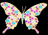 Borboleta floral - Criação Blog PNG-Free
