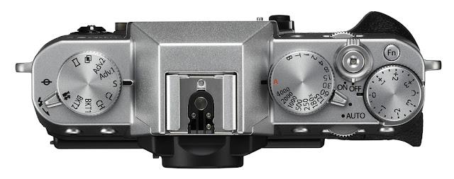 La calotta della X-T20 nella versione silver