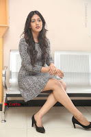 Actress Chandini Chowdary Pos in Short Dress at Howrah Bridge Movie Press Meet  0141.JPG