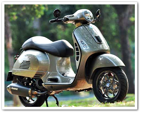 Modifikasi Motor Vespa GTS 150 3V ie Dengan Pelek Piaggio MP3 500