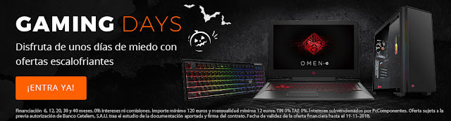 Top 10 ofertas Gaming Days de PcComponentes