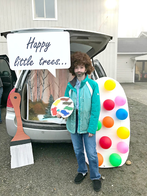 DIY: Bob Ross Trunk-or-Treat