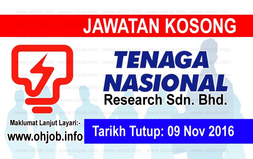 Jawatan Kerja Kosong Tenaga Nasional Berhad (TNB Research) logo www.ohjob.info november 2016