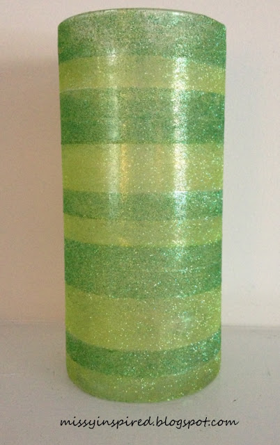 St. Patrick's Day Glitter Vase DIY Craft