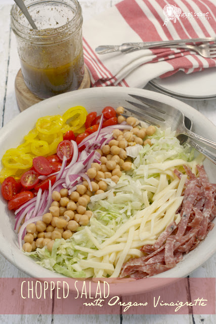 (Almost) Nancy's Chopped Salad with Oregano Vinaigrette