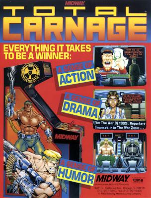 Total Carnage+arcade+game+portable+retro+art+flyer