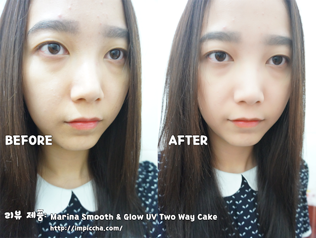 Before After Marina Smooth & Glow UV Two Way Cake