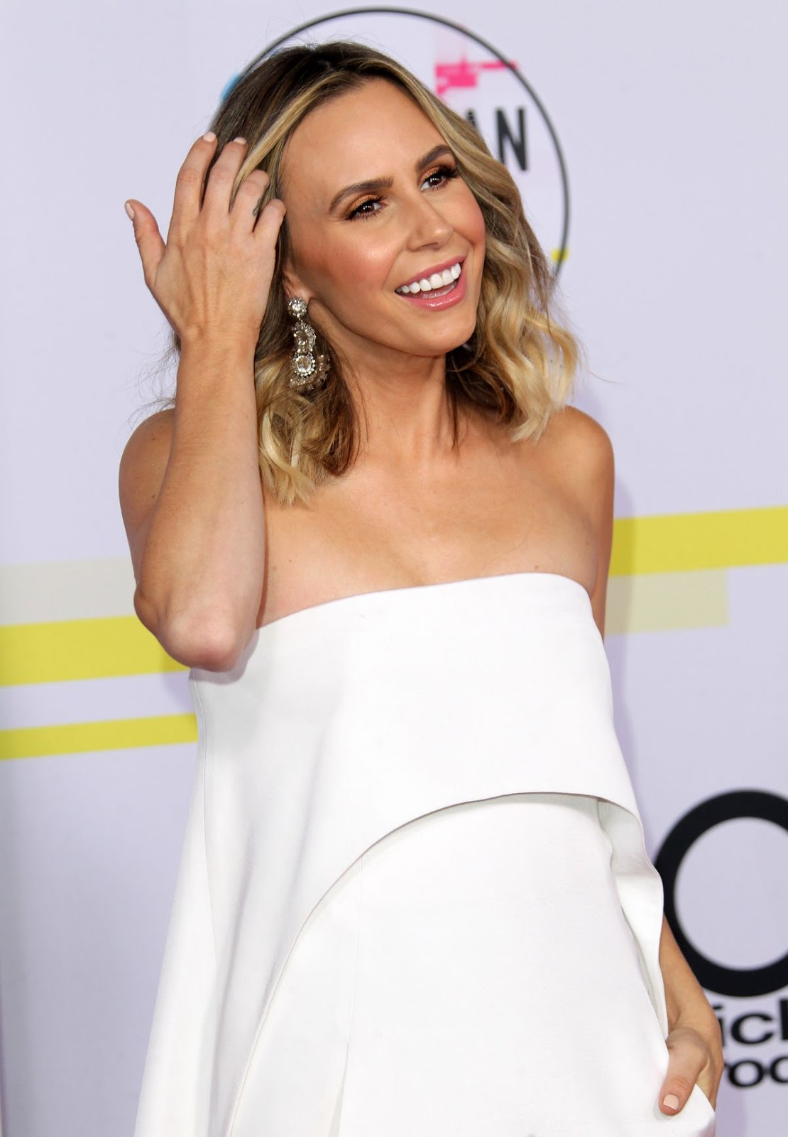 Photos of Canadian presenter TV Keltie Knight at American Music Awards 2017 at Microsoft Theater in Los Angeles