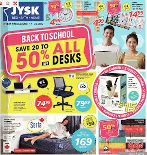 JYSK store flyer valid August 17 - 23, 2017