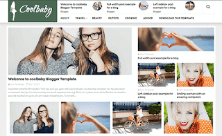 Cool Baby fashion blogger template