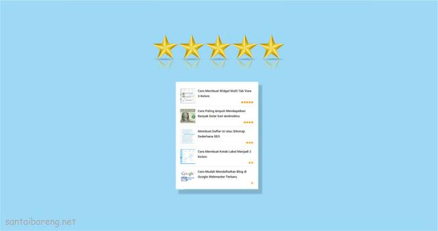 Menambahkan Efek Bintang pada Popular Posts