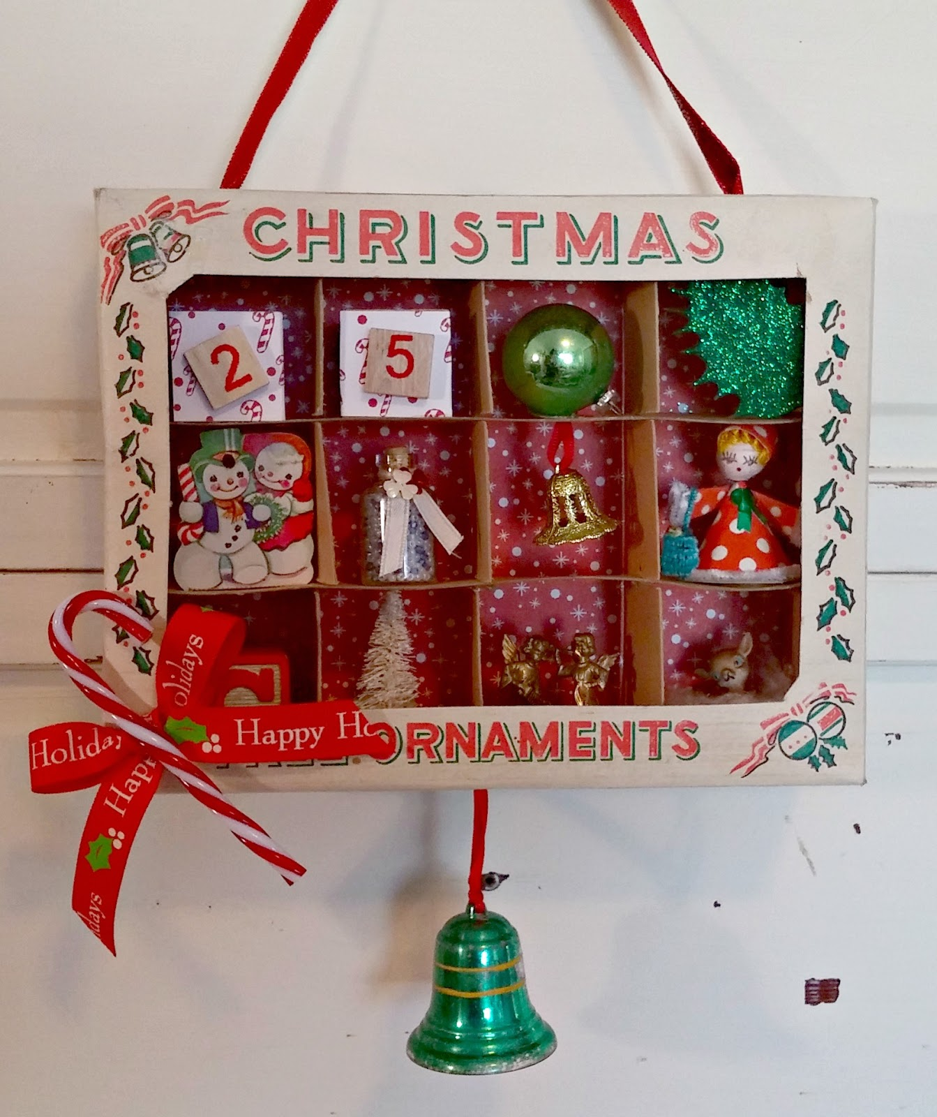 Vintage Ornament Box Dioramas - Little Vintage Cottage