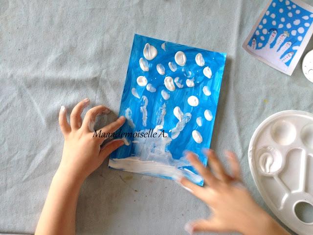 || Activité : Bonhommes de neige avec des empreintes de main