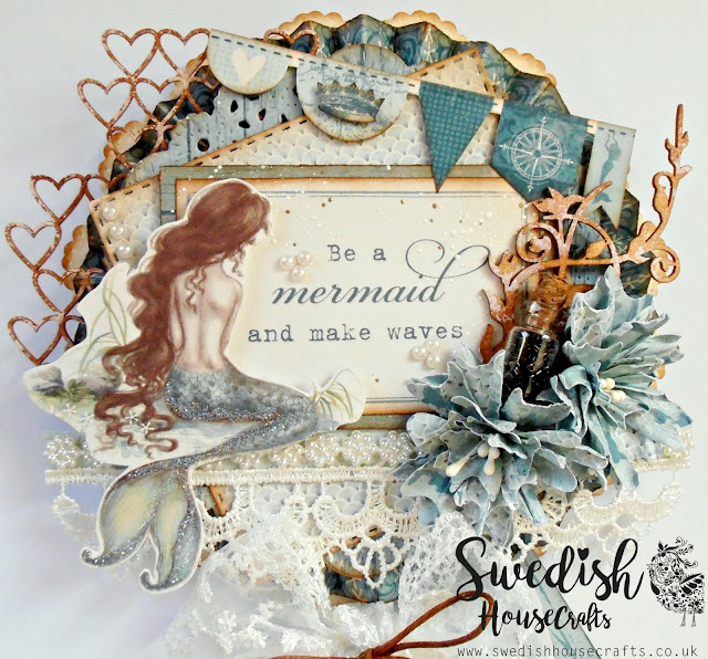 Lollipop Card with Pion Design - Legends Of The Sea Papers | By Donna