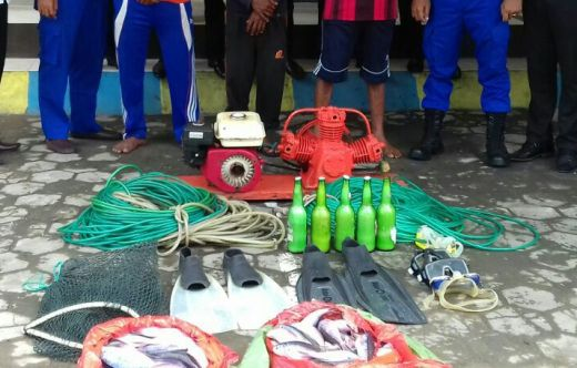 3 Orang Pembom Ikan Pulau Rajuni, di Tangkap Patroli BKO Mabes Polri