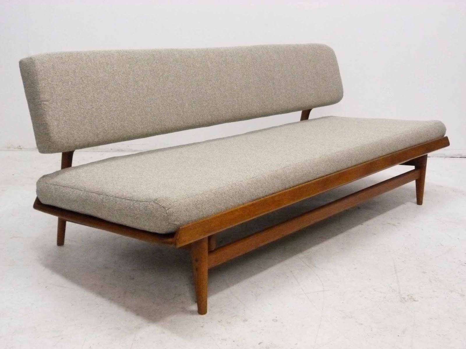 J O Carlsson Midcentury Sofa Daybed Angle View