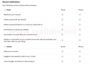 Menonaktifkan Notifikasi Email dari Google Plus2