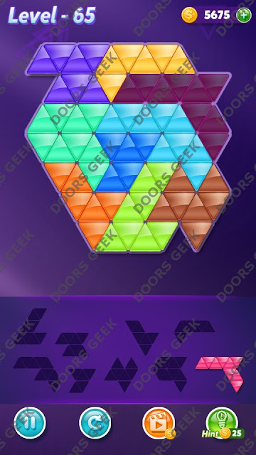 Block! Triangle Puzzle Proficient Level 65 Solution, Cheats, Walkthrough for Android, iPhone, iPad and iPod