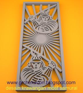 krawangan GRC free style motif Samurai