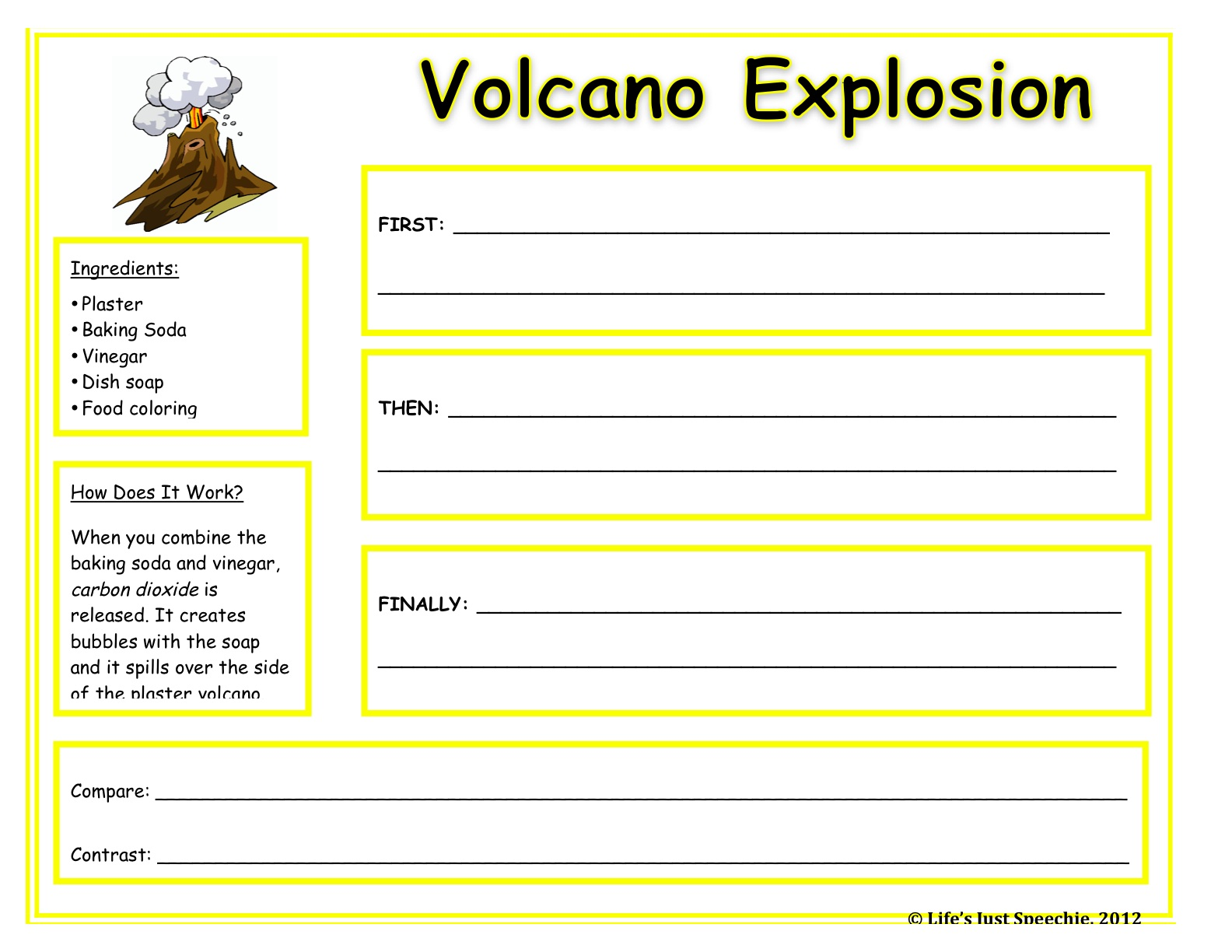 Free coloring pages of label volcano