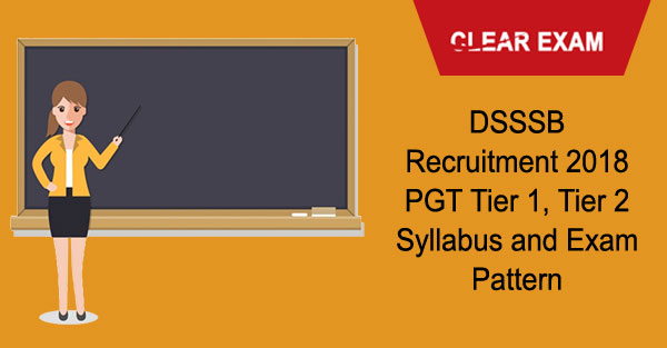 DSSSB PGT Syllabus Exam Pattern