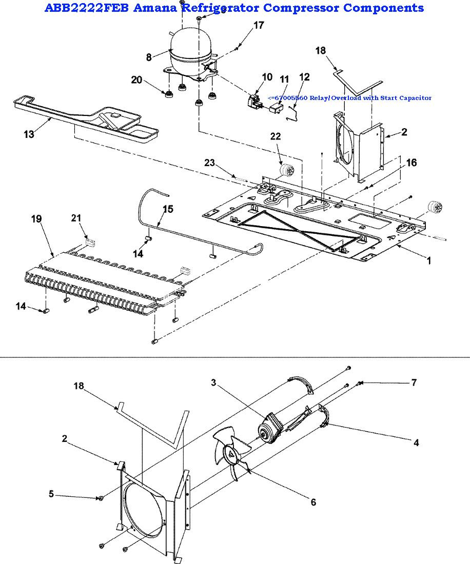medium resolution of  kenmore refrigerator schematic diagram compressor on kenmore refrigerator coldspot 106 series refrigerator wiring diagram