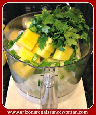 Ingredients for Pineapple-Tomatillo Salsa