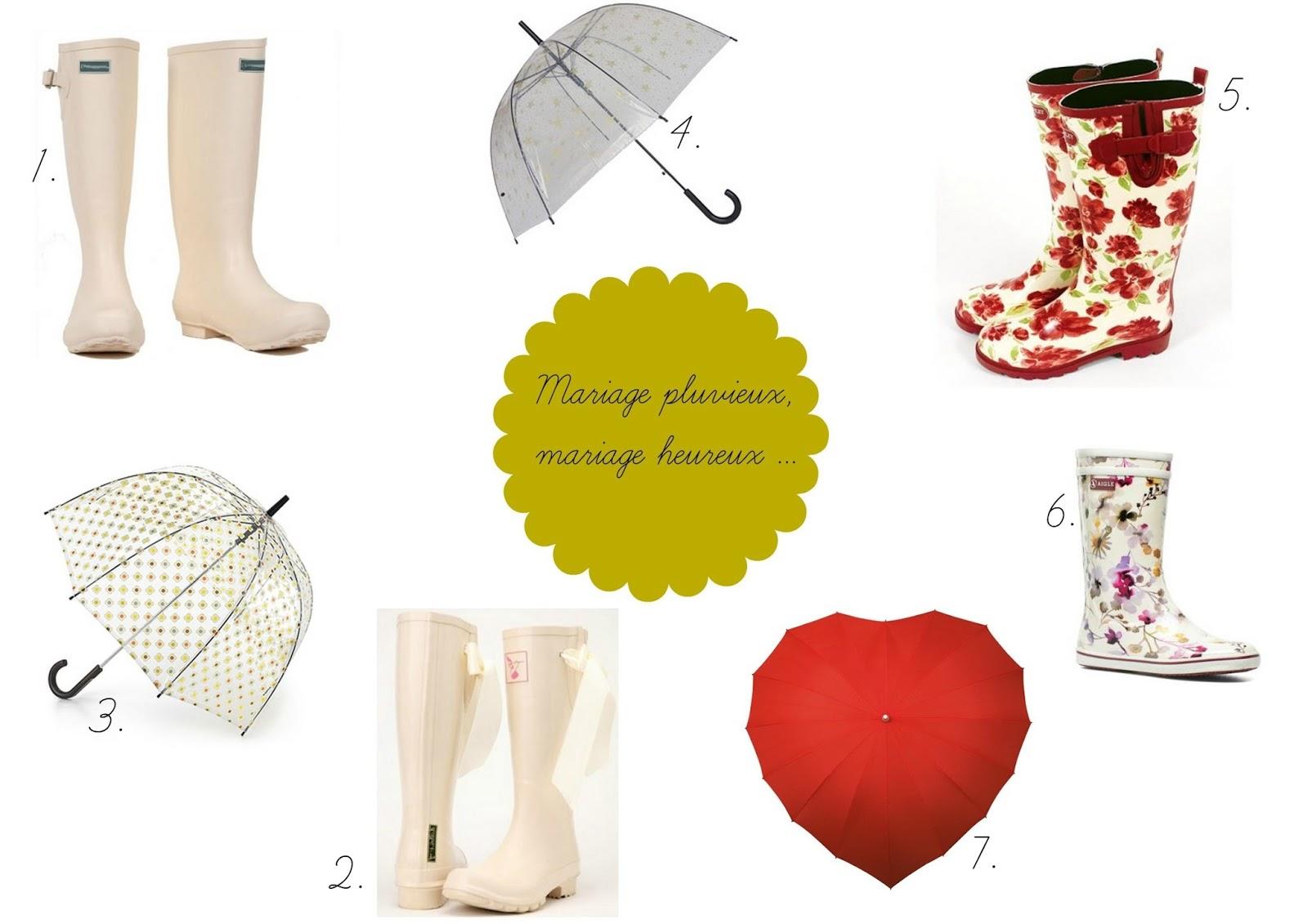 1 bottes de pluie mariage couleur crme jolies bottes de pluie 4792 2 bottes caoutchouc couleur crme avec ruban de soie jolies bottes de pluie - Parapluie Mariage Pluvieux Mariage Heureux