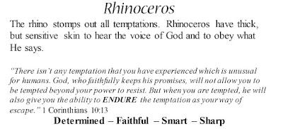 1 Corinthians 10:13 Rhinoceros