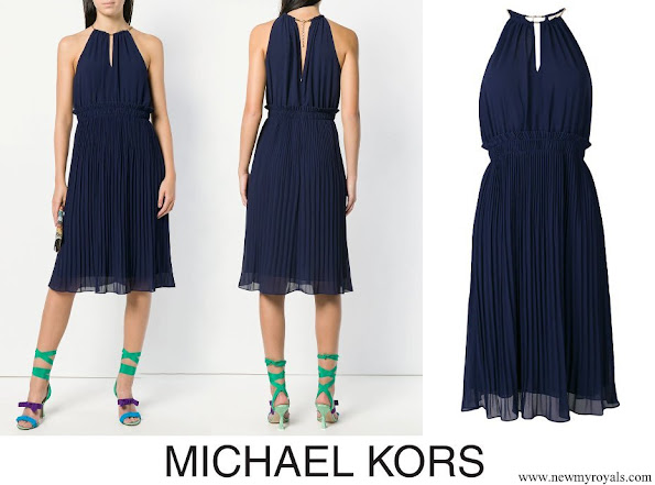 Princess Marie wore MICHAEL MICHAEL KORS pleated flared dress