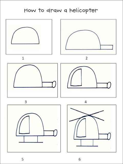 Learn to draw Helicopter for kids